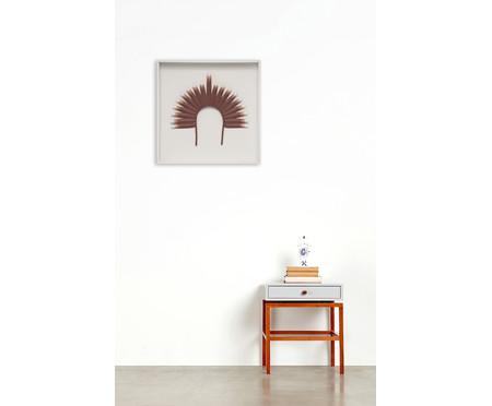 Quadro com Vidro Cocar Terracota - 52x52cm   WestwingNow