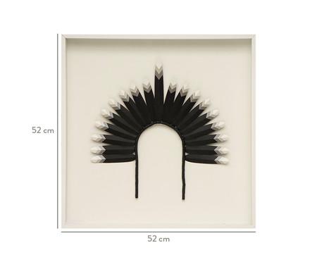 Quadro com Vidro Cocar Preto - 52x52cm | WestwingNow