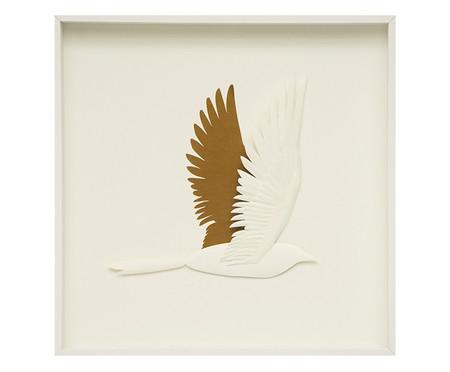 Quadro com Vidro Pássaros Ayla - 51x51cm | WestwingNow