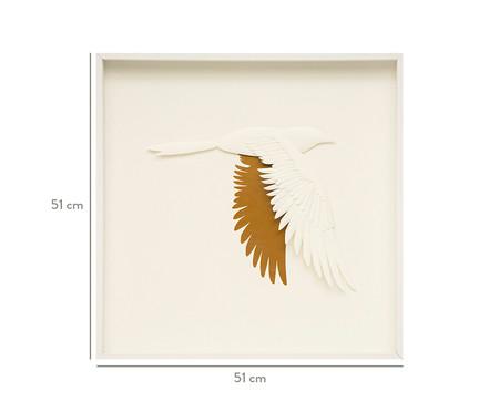 Quadro com Vidro Pássaros Iago - 51x51cm | WestwingNow