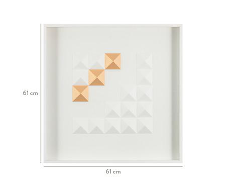 Quadro com Vidro Diamante Ceyhan - 61x61cm | WestwingNow