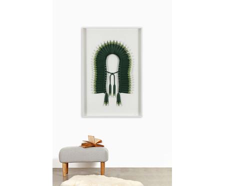 Quadro com Vidro Cocar Verde - 81x121cm | WestwingNow