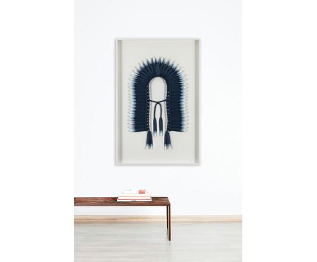 Quadro com Vidro Cocar Azul - 81x121cm | WestwingNow