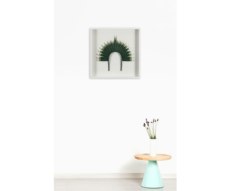 Quadro com Vidro Cocar Verde - 51x51cm | WestwingNow
