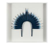 Quadro com Vidro Cocar Azul - 51x51cm | WestwingNow