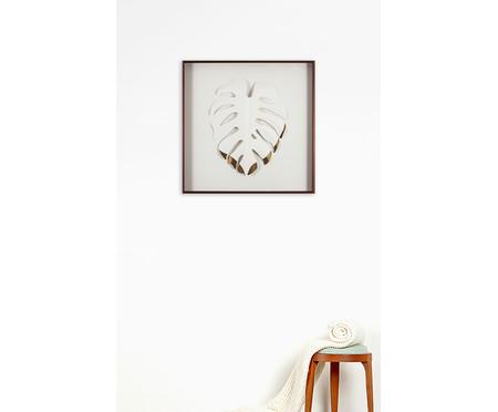 Quadro com Vidro Leaves Nusaybin - 51x51cm | WestwingNow