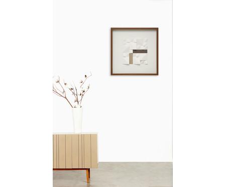 Quadro com Vidro Textura Dinar - 52x52cm | WestwingNow