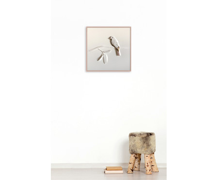 Quadro com Vidro Pássaro Yozgat - 36x36cm | WestwingNow