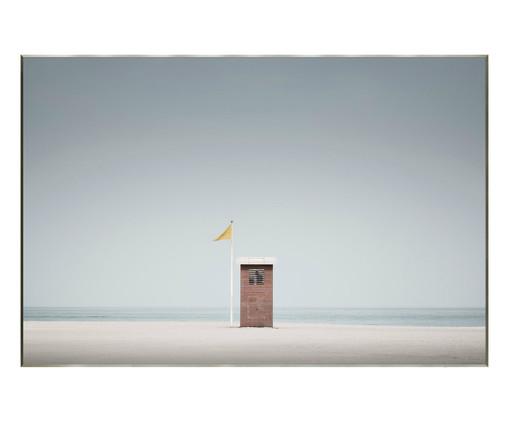 Quadro com Vidro Cabine Praia -151x101cm, Multicolorido | WestwingNow