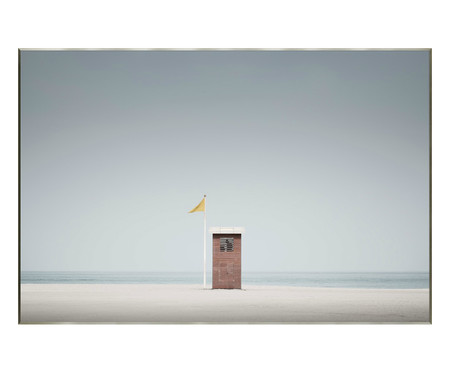 Quadro com Vidro Cabine Praia -151x101   WestwingNow