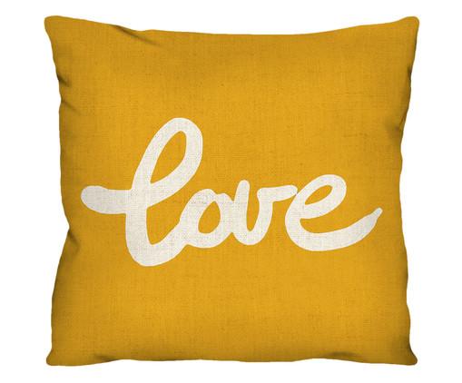 Capa de Almofada em Linho Misto Love Tonya, Amarelo | WestwingNow