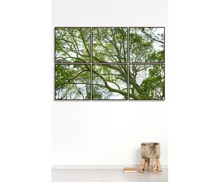 Jogo de Quadros com Vidro Paisagem Árvore - 186x124cm | WestwingNow