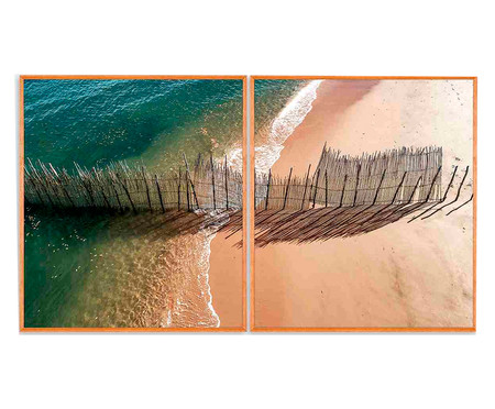 Quadro com Vidro Mar Imogen - 88x78 | WestwingNow