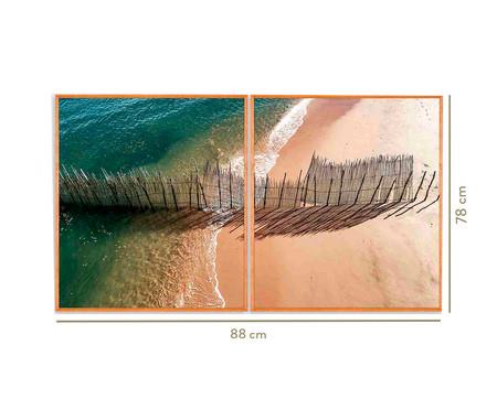 Quadro com Vidro Mar Imogen - 88x78   WestwingNow