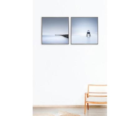 Quadro com Vidro Paisagem Infinita Florence - 51x51   WestwingNow