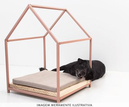 Cama para Pet em Linho Casinha - Rosa   WestwingNow