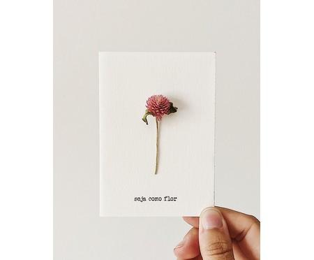 Cartão Seja Como Flor Perpétua - Rosa | WestwingNow