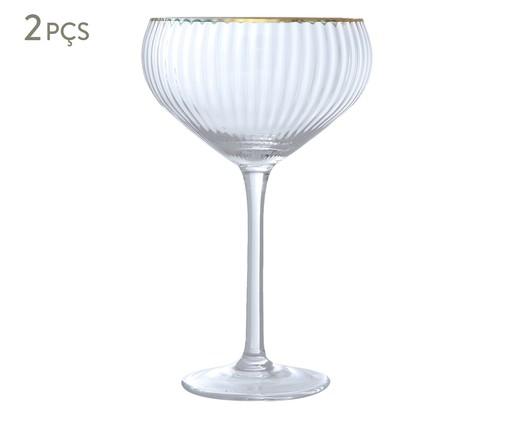 Jogo de Taças Vintage para Coquetel - Clear Gold, Transparente | WestwingNow