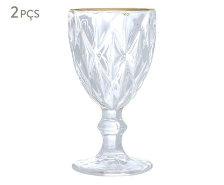 Jogo de Taças Hobnail Clear Gold - 250ml | WestwingNow