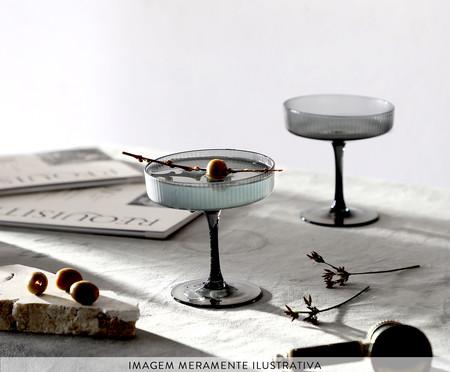 Jogo de Taças para Drink Canelado Cinza - 250ml | WestwingNow