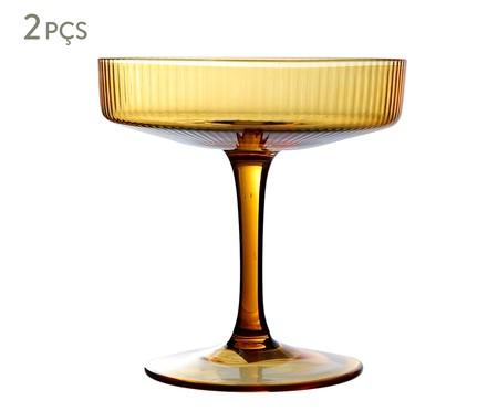 Jogo de Taças para Drink Canelado Âmbar - 250ml | WestwingNow