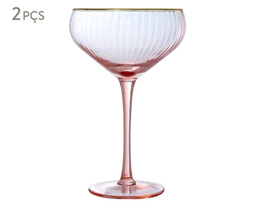Jogo de Taças Vintage para Coquetel - Peach Gold, Rosa | WestwingNow