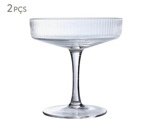 Jogo de Taças para Drink Canelado - Clear, Transparente | WestwingNow