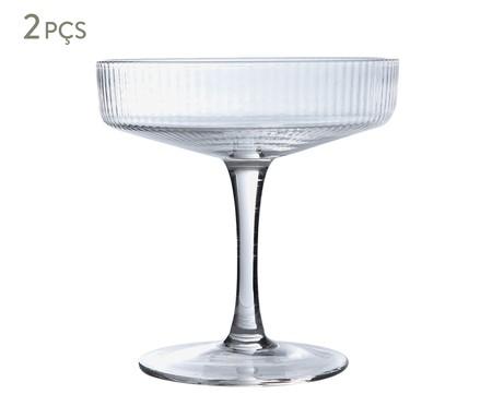 Jogo de Taças para Drink Canelado - Clear | WestwingNow