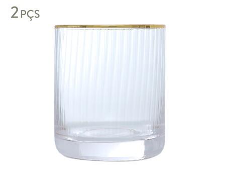 Jogo de Copos Clear Gold - 300ml | WestwingNow