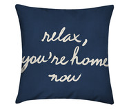 Capa de Almofada em Linho Misto Relax, You're Home Now- Azul | WestwingNow