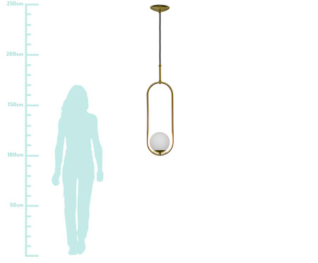 Pendente Pêndulo Nancy Dourado  - Bivolt | WestwingNow