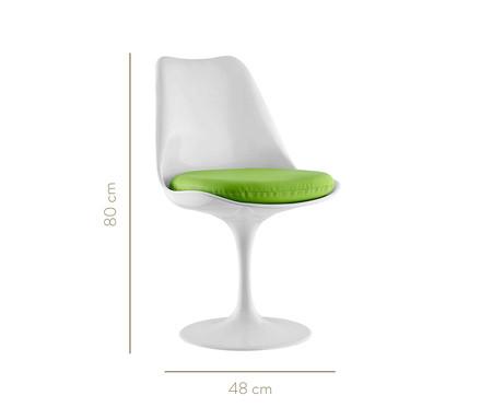 Cadeira Saarinen - Branca e Verde | WestwingNow