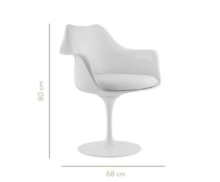 Cadeira com Braço Saarinen - Branca | WestwingNow