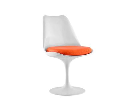 Cadeira Saarinen - Branca e Laranja | WestwingNow