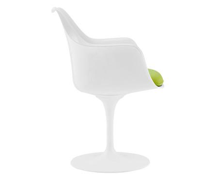 Cadeira com Braço Saarinen - Branca e Verde | WestwingNow