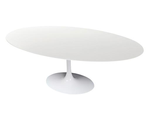 Mesa de Jantar em Nanoglass Tulipa - Branca, Branco   WestwingNow