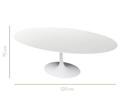 Mesa de Jantar em Nanoglass Tulipa - Branca | WestwingNow
