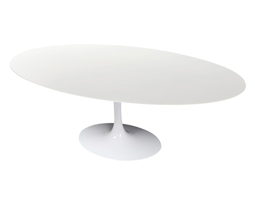 Mesa de Jantar em Nanoglass Tulipa - Branca, Branco | WestwingNow