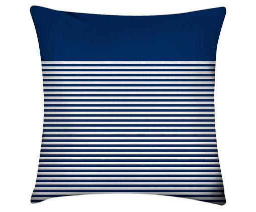 Capa de Almofada em Linho Misto Blue Stripe, Azul   WestwingNow