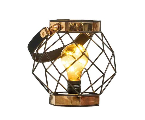 Lanterna Decorativa Rosario - Marrom, Preto | WestwingNow