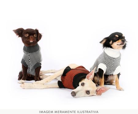 Suéter para Cachorro Minimal - Preto e Branco | WestwingNow
