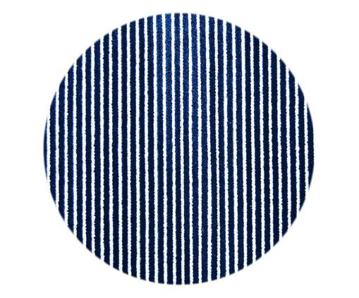 Tapete Redondo Belga Debrum Reflex Hax - Azul, Azul   WestwingNow