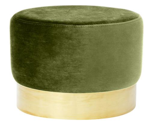 Pufe em Veludo Harlow - Verde Abacate, Verde, Dourado | WestwingNow