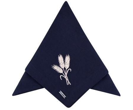 Guardanapo Bordado Trigo - Azul   WestwingNow