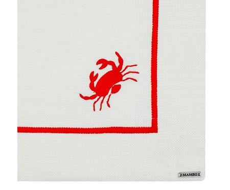 Lugar Americano Bordado Crab - Off White | WestwingNow