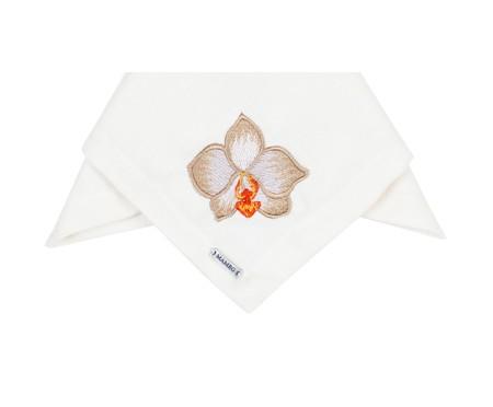 Guardanapo Bordado Orquídea - Off White   WestwingNow