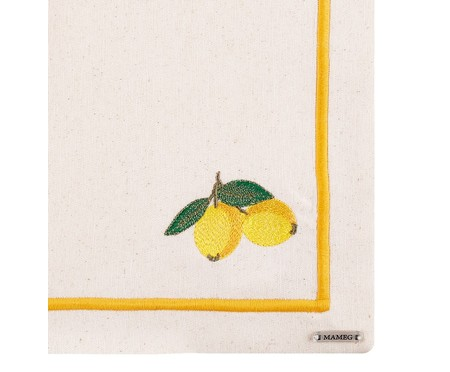 Lugar Americano Bordado Lemon - Off White   WestwingNow
