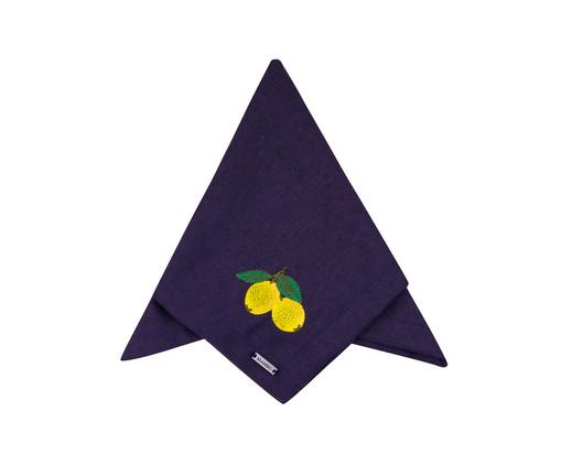 Guardanapo Bordado Lemon - Azul, Azul | WestwingNow