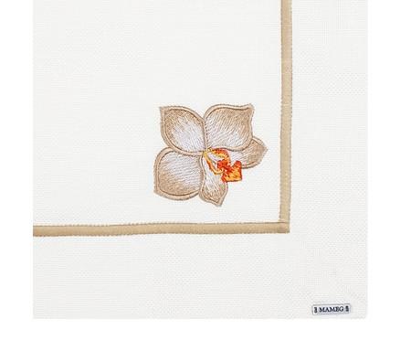 Lugar Americano Bordado Orquídea - Off White   WestwingNow