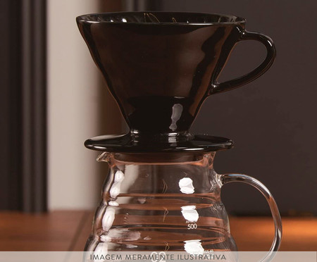 Coador de Café em Ceramica Hario - Preto | WestwingNow